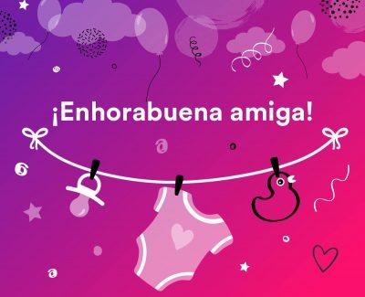 Mensajes para felicitar embarazo de una amiga
