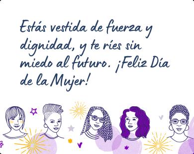 Mensaje para felicitar el Día de la Mujer