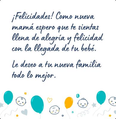 Mensaje para felicitar un nacimiento