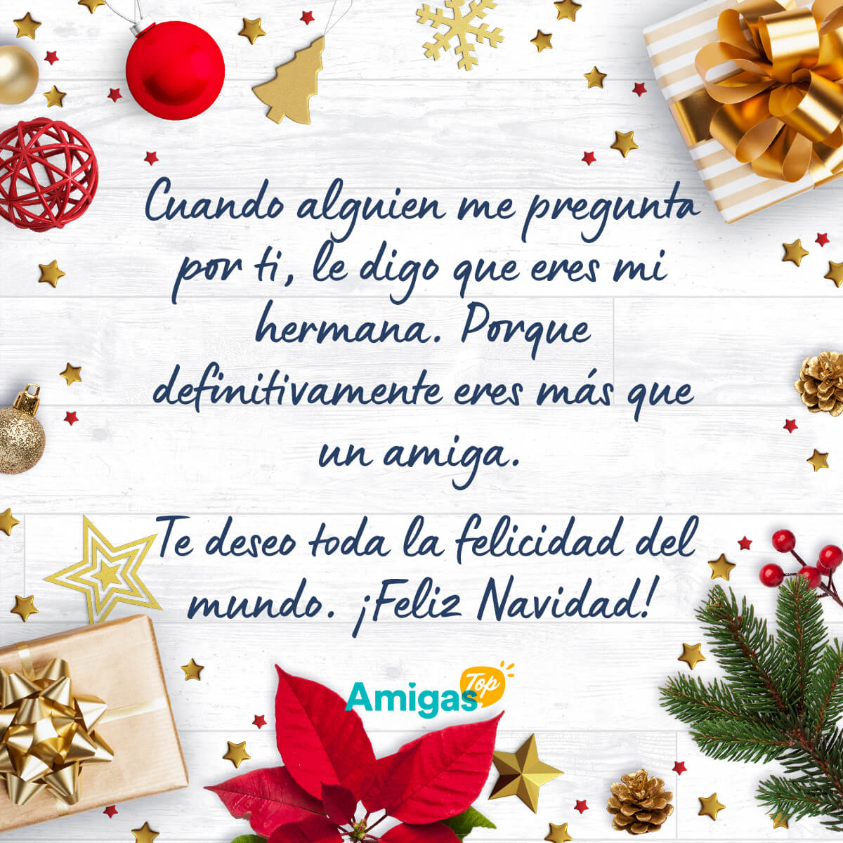 Imagen de Mensaje de Navidad bonito para una amiga