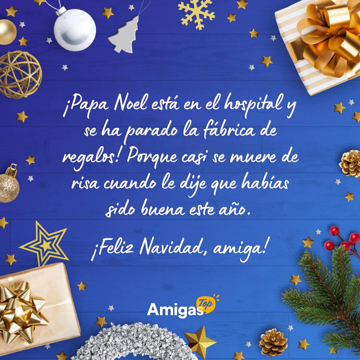 Mensaje de Navidad divertido para una amiga